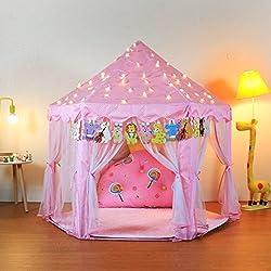 YOOBE La Tente de Jeu de château de Princesse d'hexagone de pour Le Cadeau d'enfants