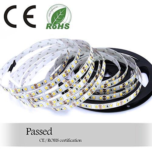 Auralum® Flexible 5M SMD 2835 72W Kaltweiß LED Streifen (600 Leds, 7500LM, DC 12V, IP20)