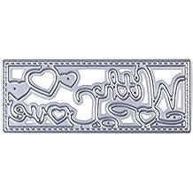Amazingdeal365 Cartas Amor Cortar Dies Stencils Plantillas DIY Decoración para Scrapbooking Papel Decoración Artesanía