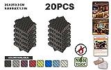 Ace Punch 20 Stücke SCHWARZ Egg Crate Noppenschaumstoff Akustikschaumstoff DIY Entwurf Mit Freiem Klebestreifen 25 x 25 x 3 cm AP1052