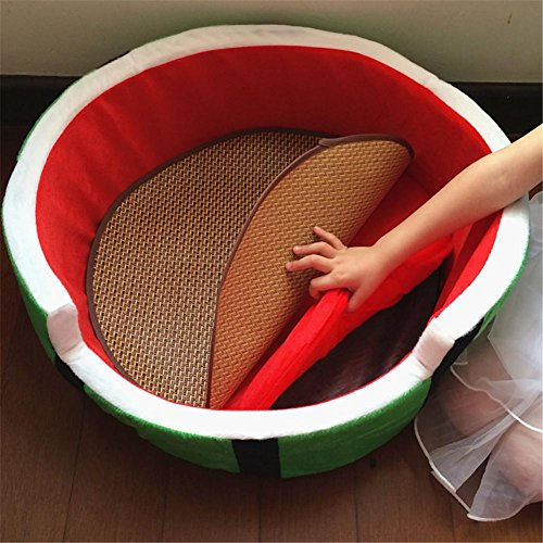 Watermelon Comfort Pet House Cat Litter Soft Little Puppy Rabbit Little Pig Hamster Cat Bed Dog House Soho chat Canapé canin , S , 3