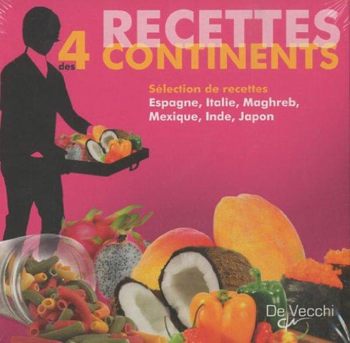 Coffret recettes des 4 continents en 6 volumes : Chili, Kebab, Pasta, Sushi, Tandoori, Tapas par  De Vecchi