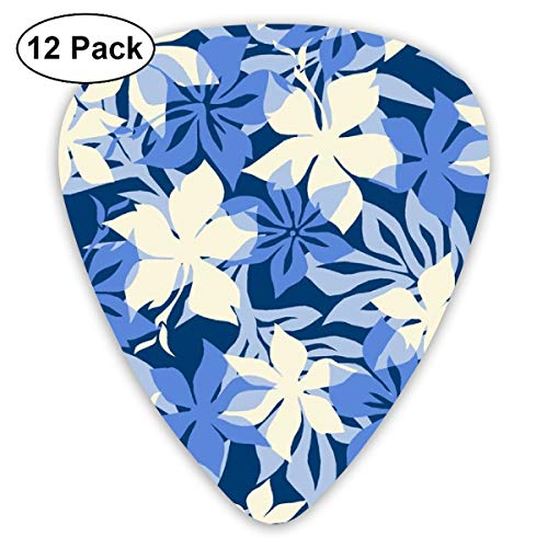 Hawaiian Hibiscus Camouflage- Tonal Blues_3771 Classic Celluloid Picks, 12-Pack, For Electric Guitar, Acoustic Guitar, Mandolin, And Bass Bass Camouflage Cap