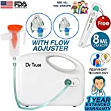 #8: Dr Trust Bestest Compressor Nebulizer Machine Kit (White)