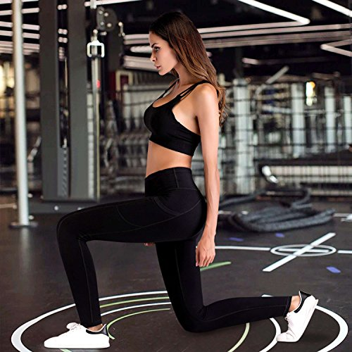 51 qMeee6HL. SS500  - IUGA Yoga Pants with Pockets, Workout Running Leggings with Pockets for Women