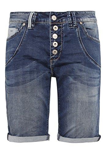 Urban Surface Damen Jeans Bermuda-Shorts | Kurze Hosen aus Denim für den Sommer blue M (Denim Jean Shorts Bermuda)