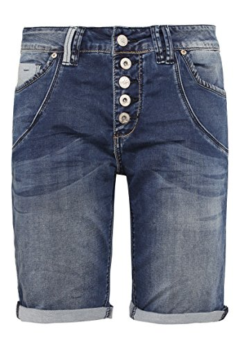 Urban Surface Damen Jeans Bermuda-Shorts | Kurze Hosen aus Denim für den Sommer blue M (Jeans-shorts Kurze Damen)