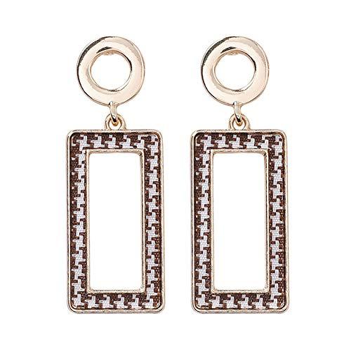 Aks Yue Sterling Silber Haken Ohrringe Stoff Gitter Ohrringe Herbst und Winter Einfache Anhänger Damen-Ohrringe sind perfekt für weibliche Mädchen