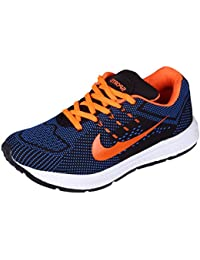 Maddy Men's Trase Orange Sport Running Shoes