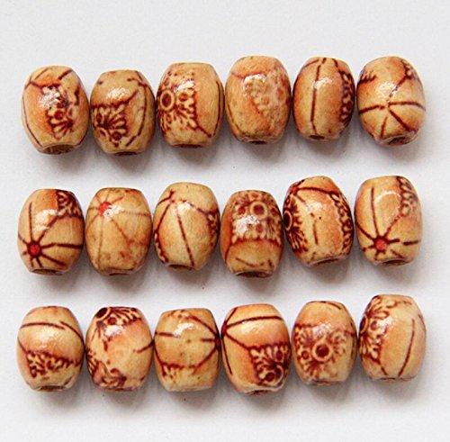 rcdxing 5PCS gemischt Holz Retro Perlen für Schmuckherstellung