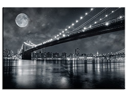 Hexoa Tableau Contemporain Pas Cher Brooklyn Bridge - Top VENTE-1A-8028HX2E