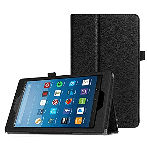 Fintie Hülle für Amazon Fire HD 8 (7. Generation - 2017 Modell) / Fire HD 8 (2016 Modell) - Premium Folio Kunstleder Schutzhülle Tasche mit Standfunktion und Auto Sleep / Wake Funktion,