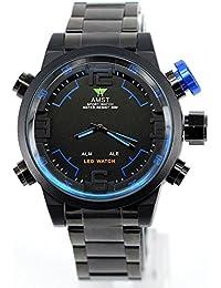 AMST Reloj de buceo LED de los hombres de lujo del reloj de la marca del