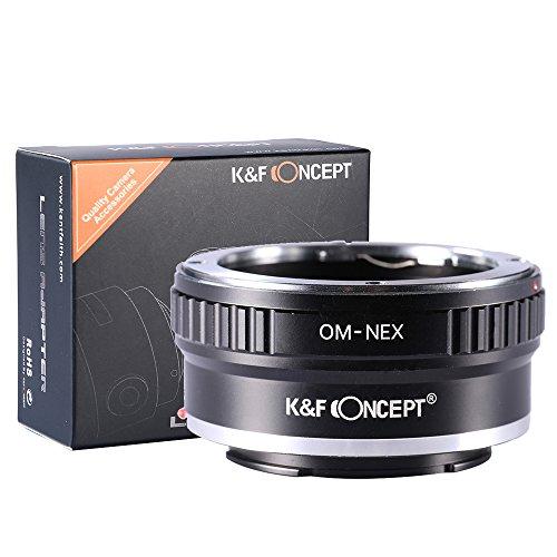 K&F Concept Anello Adattatore OM-NEX per Obiettivo di Olympus OM sulla Fotocamera di Sony NEX-3 NEX-5 EMount