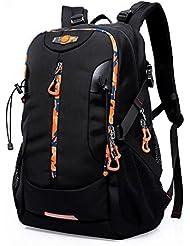 Senderismo mochila de viaje al aire libre port¨¢til bolsas casuales gran capacidad para hombres , black
