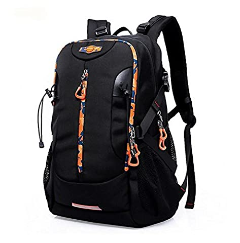 Hiking Outdoor Travel Rucksack Casual Laptop Bags Large Capacity for Men , black