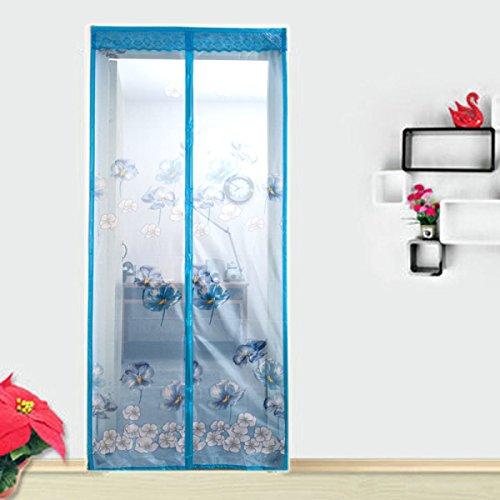 Sommer Anti-Moskito-magnetische Schirm-Tür-Gitter-Ventilations-Breathable Magnetische Vorhang-weiche Schirm-Tür,90*210cm(35.4*82.7in) (Gitter Tür Magnetische)