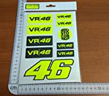 ECOSHIRT Sticker VR 46Rossi Flour Yellow PG07Stickers Aufkleber Decals autocollants valeyellow