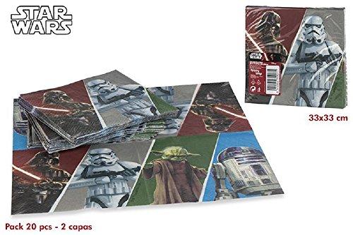 Colorbaby, 71907, Pack 20 Servietten Star Wars, 33x33 cm.
