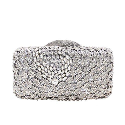 Frauen-hochwertiger Kristalldiamant-Abendbeutel-Diamanthandgriffbeutel D