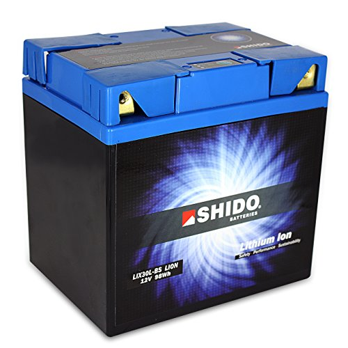 Batterie al litio SHIDO lix30l-BS/Yix30l-BS quattro, 12V/30ah (dimensioni: 166X 126X 175) per Harley Davidson FLHRSI 1450Road King Custom anno di costruzione 2000