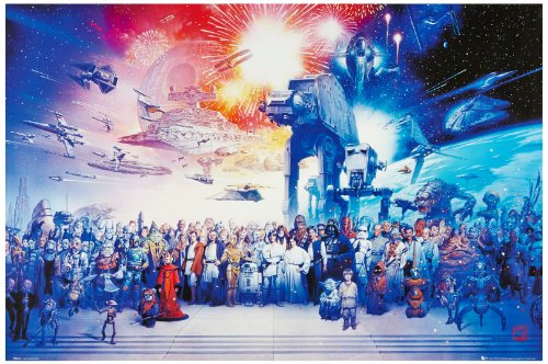 1art1® 48334 Star Wars - Póster Reparto Completo