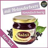 """Malzit Brotaufstrich """"Holunderbeere Hell"""" - 6 x 220 g (1.320 g) - Vegetarisch - Bekannt aus """"Die Höhle der Löwen"""""""
