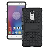 E-Cosmos Hybrid Hard TPU With Kick Stand Rugged Back Case Cover For Xiaomi Mi Redmi Note 4 - Black