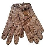 Autohandschuhe aus 100% echtem Peccary Leder, Lederhandschuhe zum Autofahren, Damen (6,5, Fasan)
