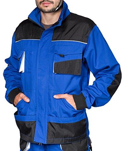 Herren Bundjacke, Größen XS-3XL, Blau, Qualität, Arbeitsjacke, Blau/Schwarz, Tripple extra large - 64