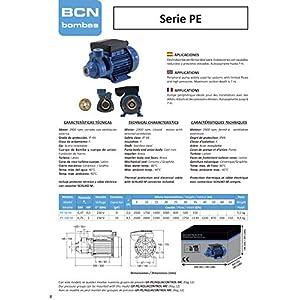 BCN bombas – Bomba de agua periférica pe-50 M (Monofásica)