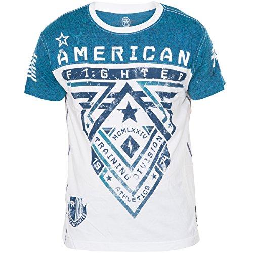 American Fighter by Affliction T-Shirt Crossroads Weiß/Blau Blau