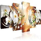 murando Quadro 200x100 cm 5 Pezzi Stampa su Tela in TNT XXL Immagini Moderni Murale Fotografia Grafica Decorazione da Parete Fiori Orchidea Perle Diamant b-A-0257-b-o