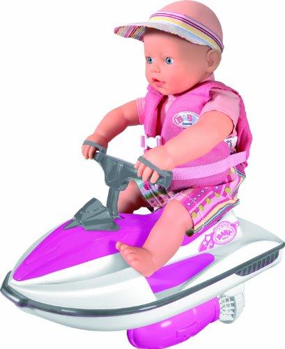 Zapf Creation - Mi primer Baby Born: moto de agua y muñeco [versión en inglés]