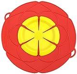 Kochblume Deckel Blume XL, Silikon, Rot, 33 cm