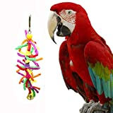 LCLrute Pet Bird Parrot Chew Bites Swing Cage Toy For Parakeet Cockatiel Cockatoo Toys Parakeet Cockatiel Cockatoo Toys (C)