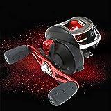 Harlls Mulinello da Pesca Baitcasting 8.1: 1 Mulinello da baitcaster ad Alta velocità con Sistema frenante Magnetico (Mano Destra) - Nero/Rosso/Blu