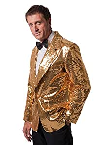 Wilbers Mens EU 54/ UK and US 44 Sequinned Jacket Costume (Gold)