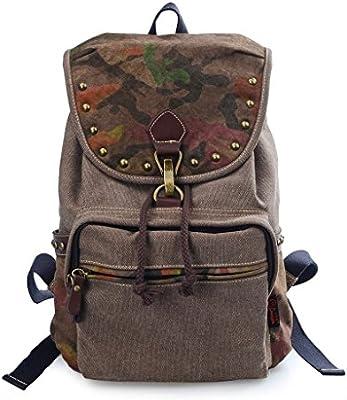 Douguyan - Moda mochila para Mujer de lona Bolsas de Viaje Casual Trekking- E00159