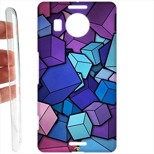 Tuttoinunclick custodia cover rigida per microsoft nokia lumia 950 xl - 445 cubi 3d