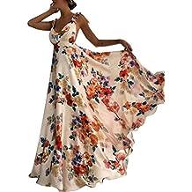 fábrica de calidad superior fina artesanía vestidos largos - Naranja - Amazon.es