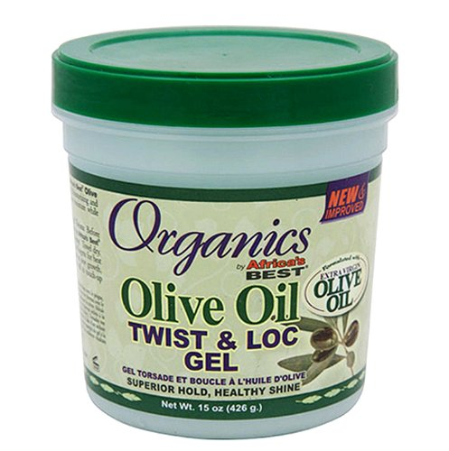 Africa's Best Gel torsade et boucles Twist & Lock Organics - A l'huile d'olive - Pot de 445 ml