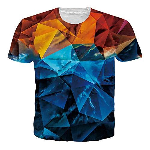 Diamant-herren-shirt (Adicreat Teen Jungen Männer Cool 3D Diamant Kurzarm T-Shirt)
