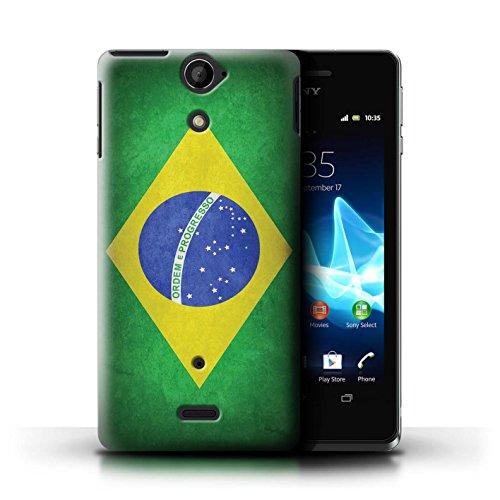 Kobalt® Imprimé Etui / Coque pour Sony Xperia V/LT25i / Uruguay/Uruguayen conception / Série Drapeau Brésil/brésilien