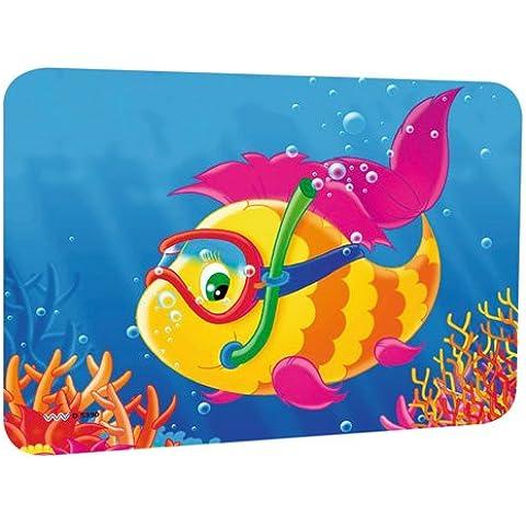 Parasole da auto adesivo per la disco e roulotte, motivo: pesce, dimensioni: 44x 32cm, autoadesivo - Pesci Asciutti