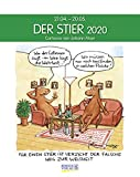 Stier 2020: Sternzeichenkalender-Cartoonkalender als Wandkalender im Format 19 x 24 cm.