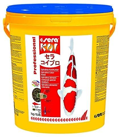 Sera - Koi Professional - Nourriture spécial couleurs pour poissons - Carpes koï - À base de spiruline - 1 x 7 kg