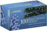 The Christmas Workshop 100 LED String Lights, Blue