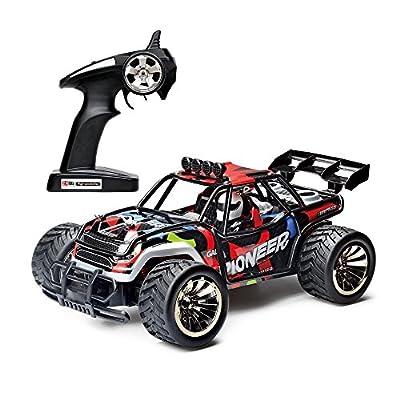 Ferngesteuertes Auto, 2WD 1:16 2.4Ghz RC Racing Buggy Auto, Hochgeschwindigkeit RC Off Road Fahrzeug Bestes Geburtstags Weihnachtsfest Geschenk für Jungen & Mädchen und Kinder von Topeasy