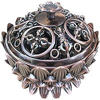Preisvergleich für Gazechimp Klassische Lotus Räucherschale mit Deckel , Weihrauch Kegel - Kupfer